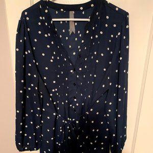 Melissa McCarthy <> 7 Polka Dot Blouse, Size 1X